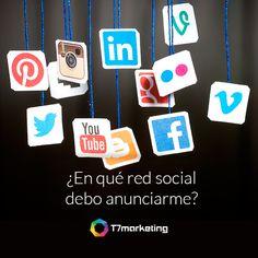 Con base en aspectos como tu mercado y tu giro, te decimos en qué redes sociales debes anunciarte. Visita www.t7marketing.com