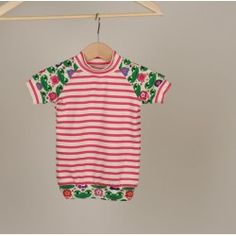 "T-shirt ""Rica"" Frösche & Streifen // Gr. 62-68"