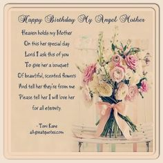**Happy First Birthday in Heaven to my sweet Mama**