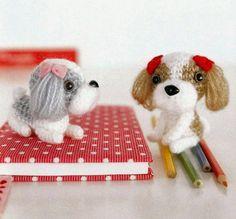 Shih Tzu Dogs Amigurumi Soft Toy Free Japanese Crochet Patterns Download
