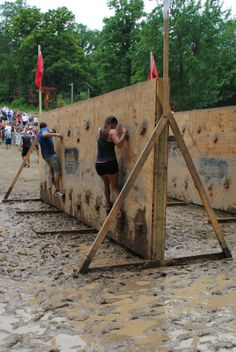 Spartan Race - wall climbing - hmmm maybe my new love of indoor rock climbing will help with this obstacle?