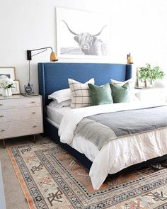 Get inspired by Modern Bedroom Design photo by AllModern. Wayfair lets you find the designer products in the photo and get ideas from thousands of other Modern Bedroom Design photos. Cozy Bedroom, White Bedroom, Home Decor Bedroom, Modern Bedroom, Bedroom Furniture, Bedroom Ideas, Contemporary Bedroom, Bedroom Designs, Modern Contemporary