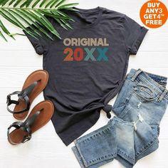 20xx Birthday T Shirt Custom Gifts Retro Funny Women Sayings Tees Fashion Daughter Friend