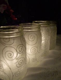 so pretty.  These would be great for Sarah's wedding, only with gold swirls!