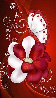 Sac Tutorial and Ideas Butterfly Wallpaper, Heart Wallpaper, Butterfly Art, Love Wallpaper, Cellphone Wallpaper, Mobile Wallpaper, Wallpaper Backgrounds, Flower Art, Iphone Wallpaper