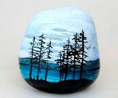 Resultado de imagen para piedras pintadas paisajes