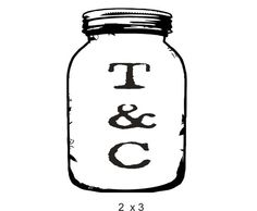 For favors  Mason Jar custom rubber stamp for DIY by stampoutonline on Etsy, $30.00