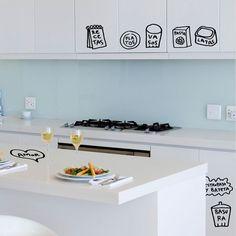 DIY vinyl kitchen organizing tags