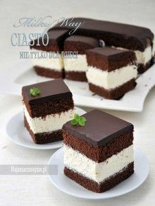Ciasto Milky Way Source by Single Serve Desserts, Small Desserts, Mini Desserts, Delicious Desserts, Yummy Food, Cake Filling Recipes, Cookie Recipes, Dessert Recipes, Chocolate Deserts