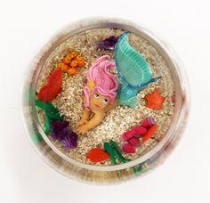 Mermaid in a fish bowl