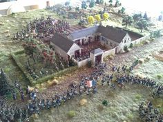 Battle of Waterloo 1815:  French attack on La Haye Sainte.  (1:72 scale diorama)
