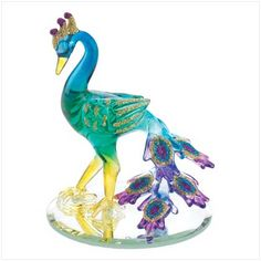 Spun Glass Peacock