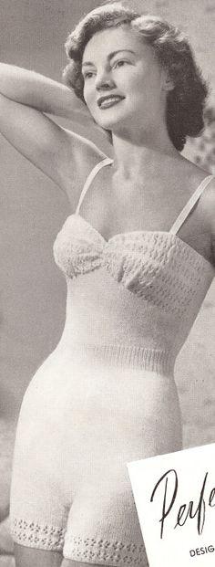 40s Knitting Pattern Lingerie Camisole Underwear Bra