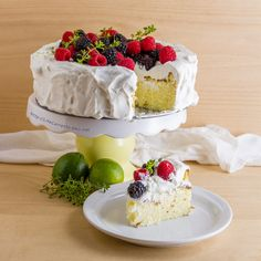 Gluten Free Fragrant Jasmine Rice Cake. Lime whipped cream. Fresh berries. Cake: homemade cardamom & lime rice pudding. Vegetarian. Life Currents