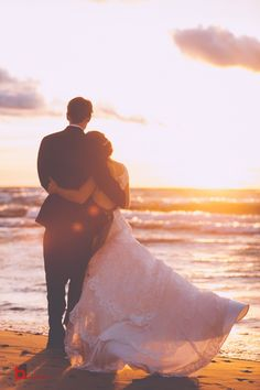 Wonderful 47 Romantic Beautiful Sunset Wedding Photos