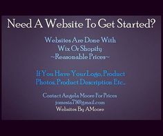 zpr ~~SERIOUS INQUIRIES ONLY~~ We do #websites!! #eCommerce, blog, landing pages, #advertising etc... I will build your website with a wix or shopify template!  My #fees are separate from #wix and/or #shopify yearly/monthly #hosting & #business email (if needed)... CONTACT: JOMESIA71@GMAIL.COM  #WebsiteDesign #Maintenance #LandingPages #Blogs #Advertising  #Reasonable #Prices #SellOnline #Boutiques #Weave #Brazilian #Tshirts #Candles #Photography #Fashion #Online #Ads