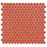 """Found it at Wayfair Supply - Penny 0.75"""" x 0.75"""" Porcelain Mosaic Tile in Vermilion"""