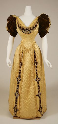 Ensemble  Date: 1890–91 Culture: French Medium: silk, glass, leather