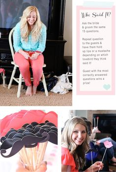 Bridal Shower Games and awesome free printables
