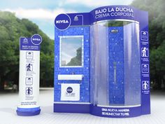 This Nivea Store Display is Inspired by Bathroom Decor #branding trendhunter.com