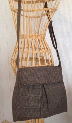 Cross body messenger bag recycled from men's by haveaheartpattern $28