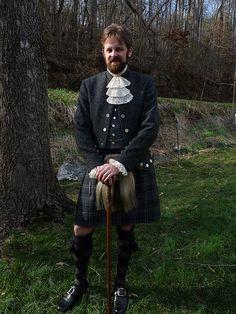 Shetland lace jabot and cuffs like Scottish dress
