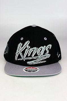 Zephyr Razzle LA Kings Snapback Hat Black - Grey - White