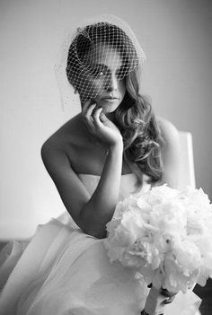 Sarah is a stunning bride in her Leah C. Worn with a Vera Wang gown, her wedding day veil was purchased with confidence from our. Vera Wang Gowns, Hats For Women, Fascinator, Veil, Special Occasion, Wedding Day, Couture, Bride, Goodies