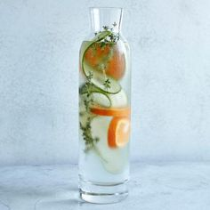 Thirst-Quenching Infused Water Recipes: Cucumber, Thyme, and Tangerine | CookingLight.com