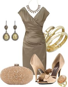 """""""Shades Of Champagne"""" by anna-campos ❤ liked on Polyvore"""