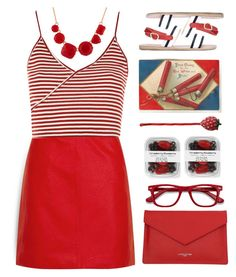 """""""long day at doc office"""" by countrycousin ❤ liked on Polyvore featuring Topshop, Lancaster, Ancient Greek Sandals, EyeBuyDirect.com and Les Néréides"""