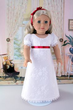 Regency Gown for American Girl Doll by BabiesArtUs on Etsy, $45.00