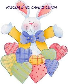Bunny and hearts Clipart Baby, Tole Painting, Fabric Painting, Shadow Painting, Happy Easter, Easter Bunny, Easter Paintings, Easter Printables, Easter Holidays