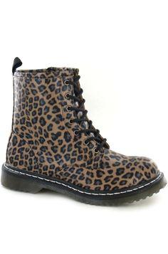 Leopard Print Worker Boot