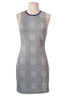 Bodycon Cocktail Dress, Dresses For Work, Formal Dresses, Stretch Dress, High Neck Dress, Plaid, Knitting, Pencil, Casual