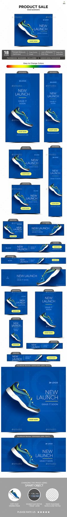 Product Sale Banners Template PSD #design #ad