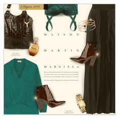 """Summer-to-Fall Look"" by monazor ❤ liked on Polyvore featuring L'Agence, Enza Costa, Dolce&Gabbana, Maison Margiela, Yves Saint Laurent, Roberto Cavalli, Tory Burch, Eshvi, womenfashion and margiela"