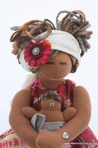 Image of Birthing and Breastfeeding MamAmor doll - NALA