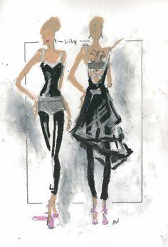 Amy Westcott design for Black Swan - Lily