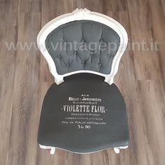 Coloriamo una sedia in tessuto con la Vintage chalk Paint - VIDEO TUTORIAL - vintagepaint