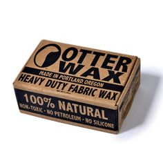 Otter Wax at the HELM store. Wax your boots and your pants for DIY waxed denim
