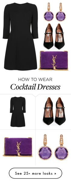 """Untitled #1437"" by claireyim on Polyvore featuring Dolce&Gabbana, Yves Saint Laurent, Tabitha Simmons, Bulgari, women's clothing, women, female, woman, misses and juniors"