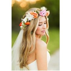 Loose and lovely wedding hair with a flower crown @hairbymatilda #Wedding #hair ideas from #Instagram #boho