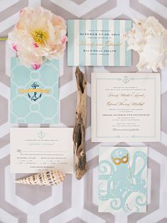 Love the background pattern and teal/nautical feel