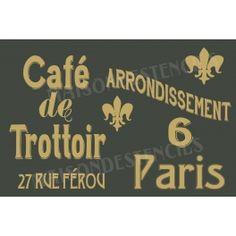 French Sidewalk Cafe Window 12x18 Stencil