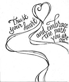 Zenspirations creator Joanne Fink's flowing lines and lettering make this sketch both beautiful and meaningful.:
