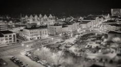 What a cute little town.  #miniature #tiltshift #bw #bw_photooftheday #bandw #tinytown