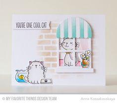 Cool Cat, Cool Cat Die-namics, Blueprints 28 Die-namics, Boutique Window Die-namics, Brick Wall Cover-Up Die-namics - Anna Kossakovskaya #mftstamps