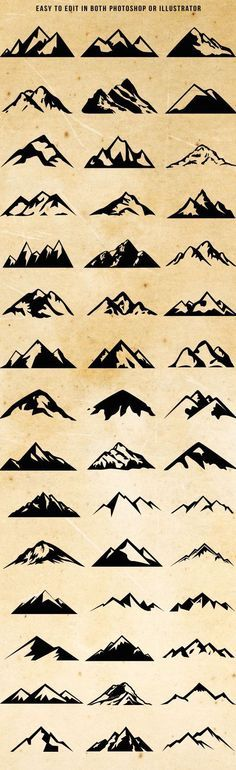 Mountain Chart Tattoos