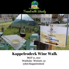 Kappelrodeck Wine Walk    The Kappelrodeck Wine walk in the north Black Forest in Germany is wonderful. Held in an adorable little town that celebrates the beginning of the wine season with a beautiful hike that leads you into France for just a bit! Absolutely unforgettable ~